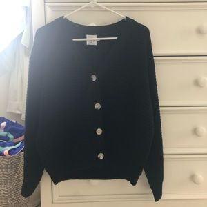 Princess Polly ribbed knit marble button sweater